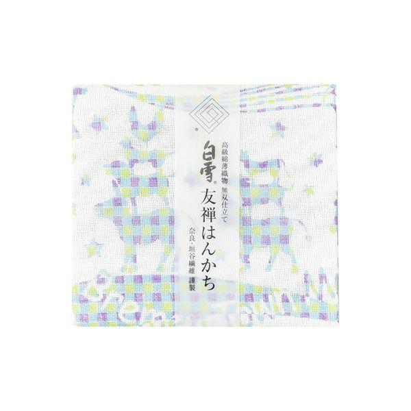 白雪友禅はんかち / ブレーメンの音楽隊 / ブルー