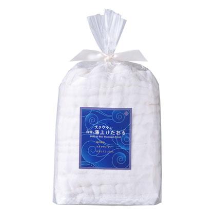 白雪スクワラン湯上りたおる(L)バスタオルサイズ / ホワイト