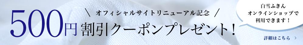 500円割引クーポンプレゼント